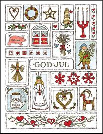 Jana Schnoor God Jul Cards - same style but use personal images in each box and display at christmas time Norwegian Christmas, Danish Christmas, Swedish Christmas, Scandinavian Christmas, Vintage Christmas, Christmas Holidays, Christmas Tables, Modern Christmas, Xmas