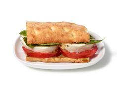 Almost-Famous Tomato, Basil and Mozzarella Flatbread Sandwiches Recipe   Food Network Kitchen   Food Network