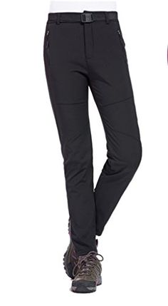 Women's Athletic Pants - Geval Womens Outdoor Windproof Waterproof Softshell Fleece Snow pants *** Find out more about the great product at the image link.