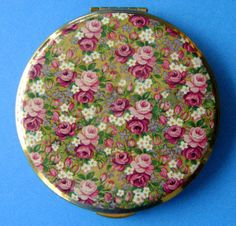 KIGU Vintage Mirror Compact Beautiful Multi Rose by VintageTrue, $45.00