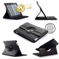 Mobiletto iPad Smart Cover CEO Leder Case - 360 Grad drehbar - schwarz| arktis.de