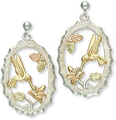 Gorgeous Landstroms Hummingbird Earrings Black Hills and Silver
