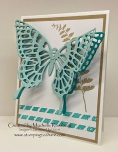 Stamping to Share Swap Cards - Flowers and Butterflies - Part Three