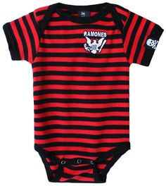 SOURPUSS RAMONES STRIPED ONE PIECE - Kids