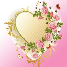 Free Butterfly Borders | psd name heart shaped flowers frame this file format include psd ...