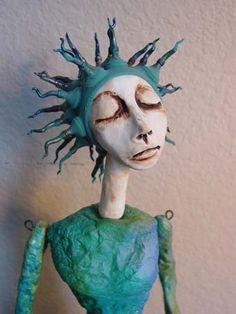 Art doll by Lisa Renner