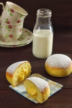 cutters and rolling pin: donuts baked