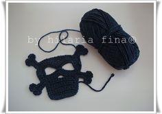 Crochet skull applique 100% cotton  https://www.facebook.com/hilaria.fina