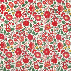 "Liberty of London Classic Collection. Approximately 53″ wide. 100% cotton, Tana Lawn. ""Based on a classic Liberty floral design from the 1930s, the D'Anjo fabri"