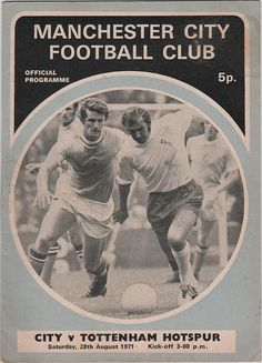 Vintage Football Programme - Manchester City v Tottenham Hotspur, 1971/72 season, by DakotabooVintage, £3.99