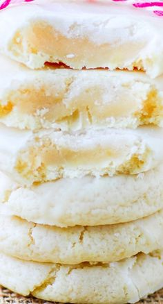 Glazed Cream Cheese Lemon Cookies