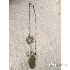 Beautiful Anthropologie Necklace Dress this up or wear it with a tank and wedges! Hits mid chest. Thanks for looking! Anthropologie Jewelry Necklaces