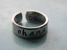 ohana cuff style aluminum ring
