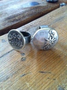 Easy to make Button Rings