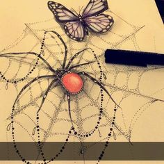 Fresh WTFDotworkTattoo Find Fresh from the Web Todays doodle  #dotwork #spider…