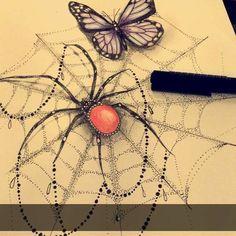 Fresh WTFDotworkTattoo Find Fresh from the Web Todays doodle  #dotwork #spider…