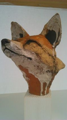 Amaxing fox head sculpture at Hatfield Art in Clay 2014