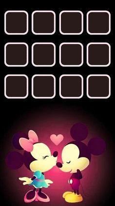 iPhone5 ホーム画面 ミッキー ミニーの画像 プリ画像