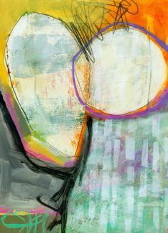 """#31, 9""""x12"""", acrylic, crayon, graphite, ink on cheap drawing paper"""