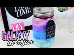 DIY GALAXY IN A JAR - YouTube