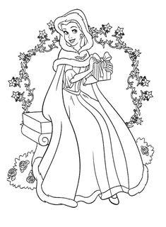 belle coloring page colouring pages. Christmas Disney princess Coloring Page Barbi ksi niczki kolorowanki za darmo  Pinterest