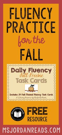 Fall Fluency Task Ca