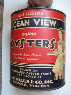 Ocean View Brand from J.H.Miles, Norfolk, Virginia, one of the businesses that once thrived on the city's Elizabeth River waterfront.