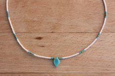Gargantilla de perlas de pequeño White Seed bead por monroejewelry