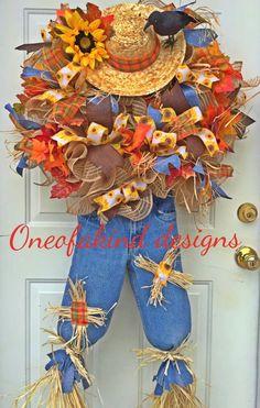 Scarecrow/Fall wreath