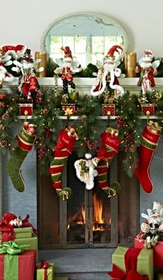 Our Glad Tidings Stockings greet Santa with sumptuous trimmings, a merry jingle, and the lucky recipient's name.