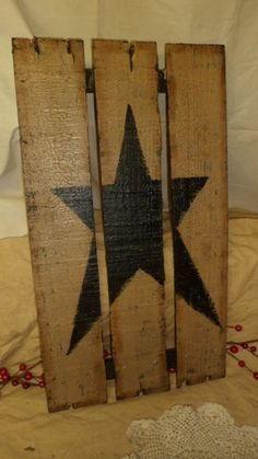 primitive country crafts | part of an old crate....very cute idea ;) | Americana