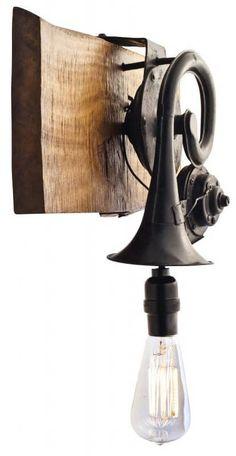 Unique Lighting, Industrial Lighting, Vintage Lighting, Lighting Design, Lighting Ideas, Lamp Light, Light Up, Light Side, Lampe Steampunk