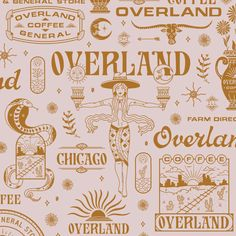 OVERLAND COFFEE & GENERAL designed by Zachary Kiernan. Connect with them on Dribbble; the global community for designers and creative professionals. Brand Identity Design, Graphic Design Branding, Corporate Design, Brochure Design, Typography Logo, Typography Design, Tarot, Branding Agency, Identity Branding