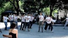 amazingly orchestrated wedding proposal in Madison Square Park
