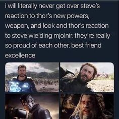 Rare friendship between Thor and Captain America - Marvel & DC