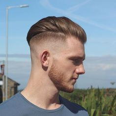 High and tight // square and faded beard // strong blow wave, styled with Ruger Matte Vol 1 , set with hair spray! #rugerbarber