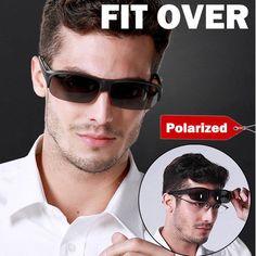 1213869ea2e Polarized Fit Over Sunglasses Wear Cover Glasses Driving Fishing Golf Unisex