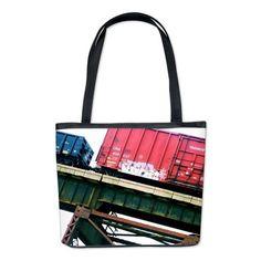 #Trains #Railroad #ChooChooCollection Train 6 Bucket Bag on CafePress.com