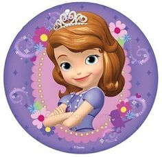 Sofia the First Edible Icing Image