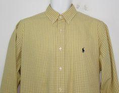 Men Ralph Lauren Yarmouth Dress Shirt Embroidered Pony 100% Cotton  16 X 34 /35 #RalphLauren