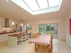 light airy kitchen diner aga - Google Search