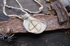 Real Animal Bone Hemp Pagan Earth Necklace by MKRTPW on Etsy, $26.18