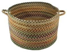 The Sherwood Forest style is a wool-blend, casual basket design from Capel Rugs. Sherwood Forest baskets have a variegated pattern and a braided construction. Features Handmade Material: Wool Nylon Other Fibers Theme: Striped Size: x Color: Amber.