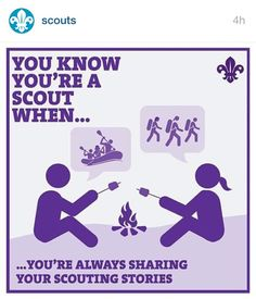 You know you're a scout. Cub Scouts Wolf, Girl Scouts, Scout Quotes, Camping Humor, Camping Stuff, Camping Ideas, Scout Activities, Scout Leader, Eagle Scout