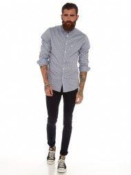Margate Polka Dot Shirt in Grey