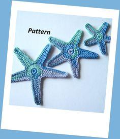 Sea Star Crochet Pattern, Starfish, Appliques