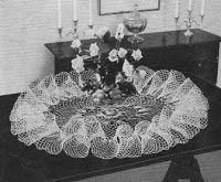 Vintage Crochet PATTERN to make - Victorian Ruffled Table Doily Mat Centerpiece Large. NOT a finished item. This is a pattern and/or instructions to make the item only. - I Crochet World Form Crochet, Thread Crochet, Crochet Doilies, Crochet Yarn, Vintage Crochet Patterns, Crochet Designs, Lace Centerpieces, Crochet Wedding, Victorian Lace