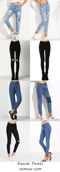 Denim Pants 2017 - romwe.com