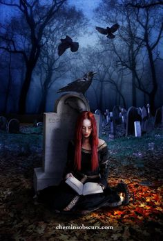 Reading in the cemetary by elcid1973 on DeviantArt