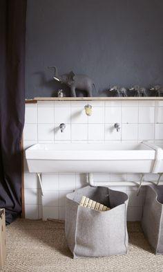 Comme à l'école - inspiration de lavabos, salle de bain sur The Socialite Family